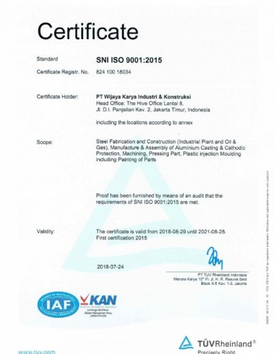 SNI ISO 9001 2015