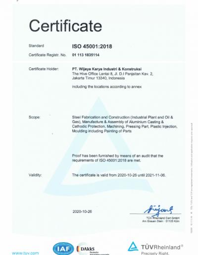 SNI ISO 45001:2018